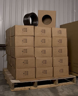 Skids of 50 lb. and 100 lb. boxes of wire